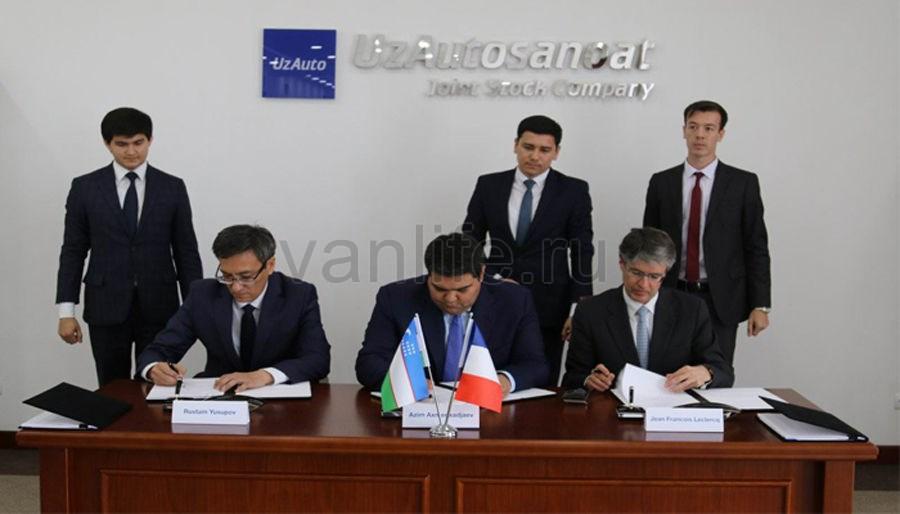 Завод по производству автомобилей в Узбекистане