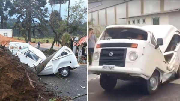 Несчастный случай при участии Volkswagen Combi