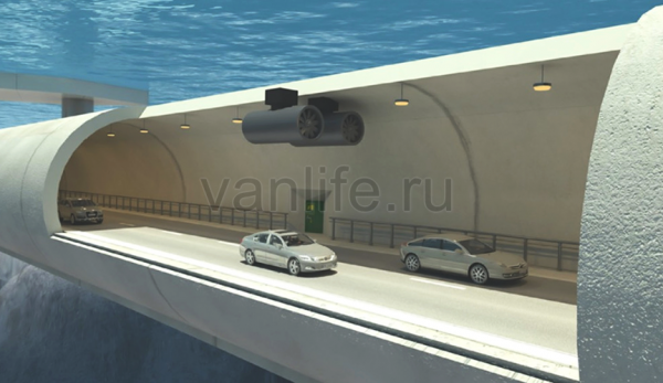 В Норвегии придумали подводные мосты для автомобилей
