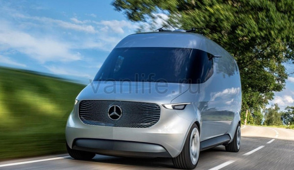 Компания Mercrdes-Benz представила концепт фургона Vision Van