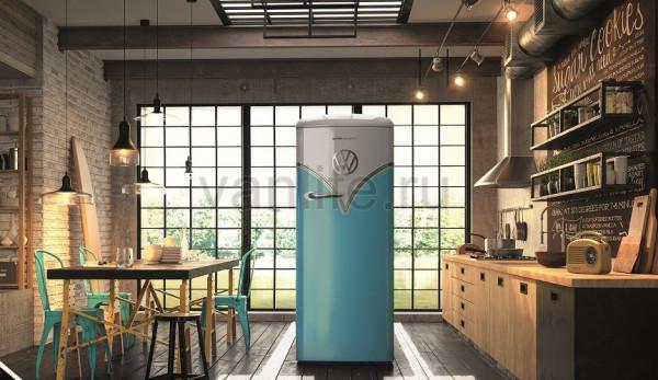 Фото: холодильник в стиле Volkswagen T1