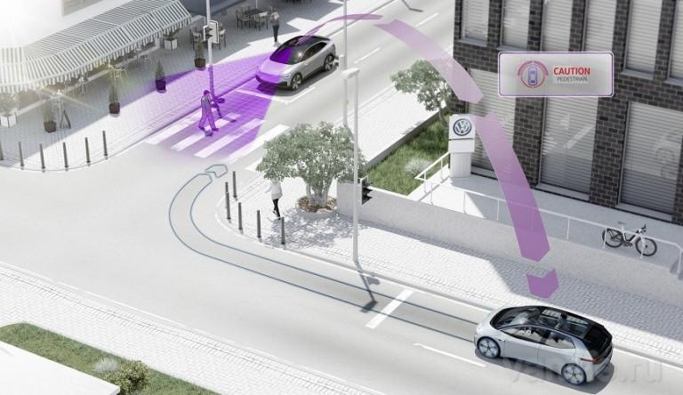 С 2019 года автомобили Volkswagen будут общаться между собой