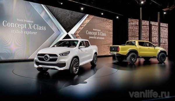 Компания Mercedes-Benz представила свой первый пикап X-Class: видео